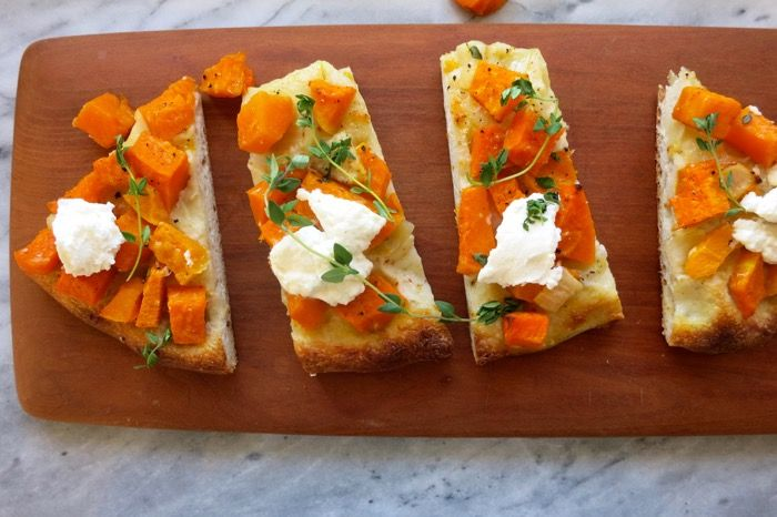 Butternut Squash Pizza with Ricotta and Thyme