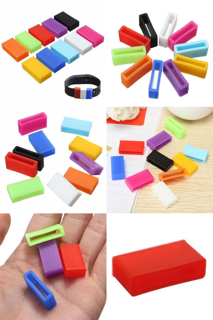 [Visit to Buy] 10 x Colorful Security WatchBand Clasp Keeper Ring Loop Fastener Replacement Bracelet For Fitbit Charge HR #Advertisement