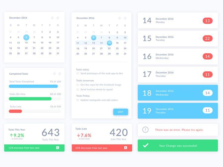 Calendar UI Elements