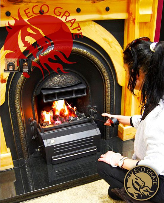 In cold countries like Ireland #Fireplaces are essential to worm rooms. It is an expensive process because it needs huge solid fuels to produce sufficient heat output.Adding an #Ecograte with the open fire cane solve the   problem easily.