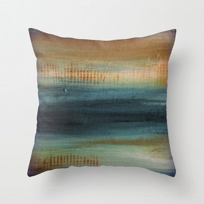 "$5.00 OFF ALL PILLOWS!  Use coupon code ""Pillow5"" at checkout Feb 16th - 19th... Beach Blues Pillow by LizMosLoft on Etsy, $27.00"