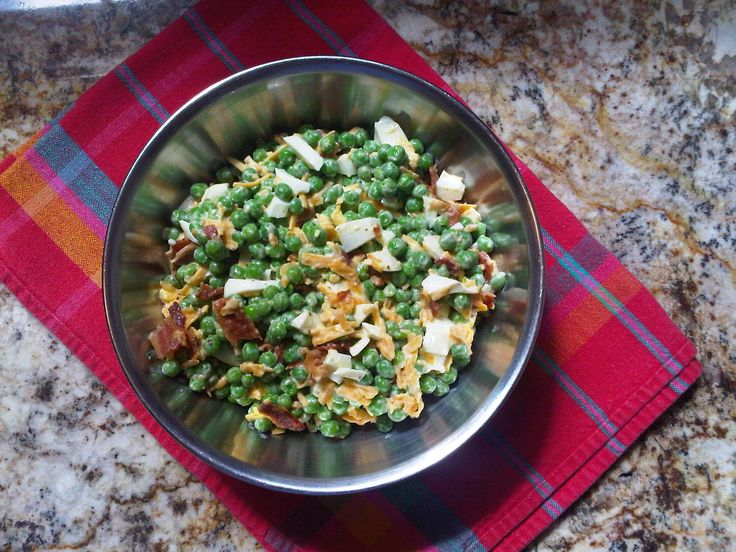 English Pea Salad, recipe from Paula Deen's sons...