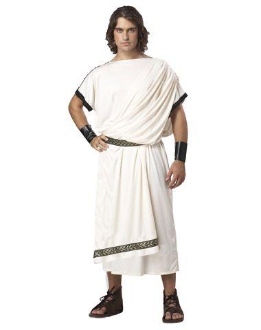 Classic Greek / Roman Toga Adult Men's Deluxe Costume - Halloween Cosplay