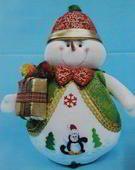 Molde Muñeco de Nieve regalon