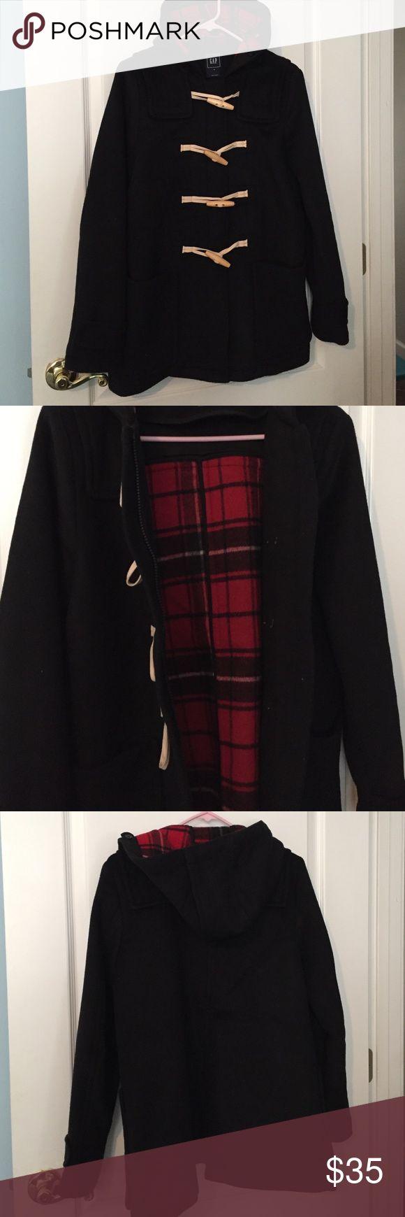 Gap duffle coat Black duffle coat. Plaid flannel-lined GAP Jackets & Coats