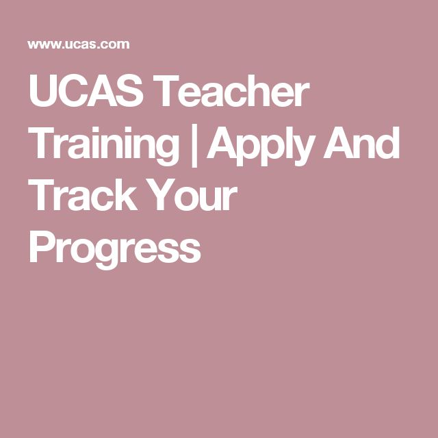 UCAS Teacher Training | Apply And Track Your Progress