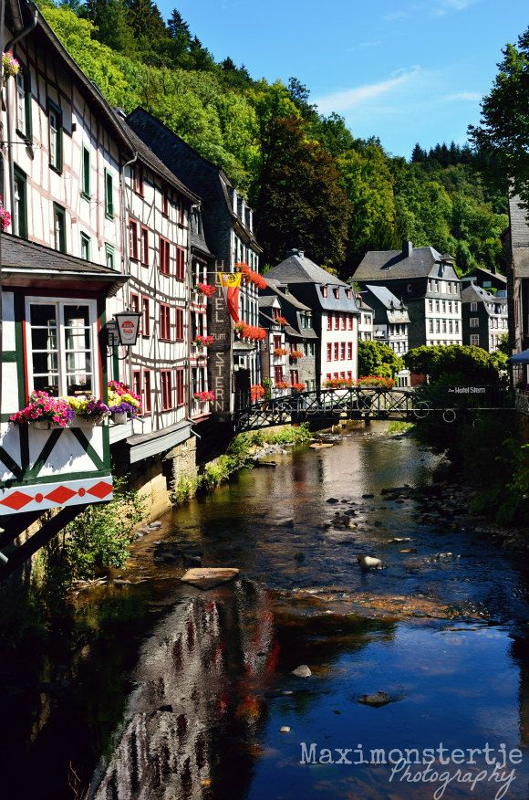 Items similar to Travel Photograph Germany, Monschau, half-timbered houses…
