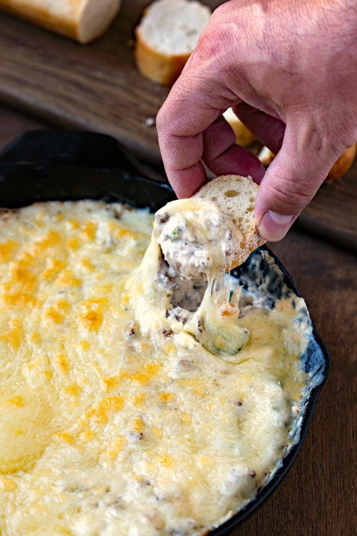 Philly Cheesesteak Skillet Dip for Super Bowl Parties