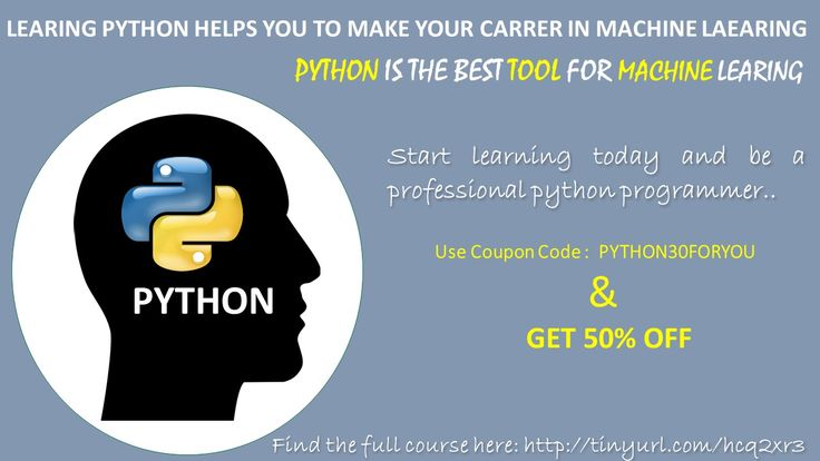 48 best python course images on pinterest python a student and desk by learning python you can boot your career in machine learning and artificial intelligence fandeluxe Images