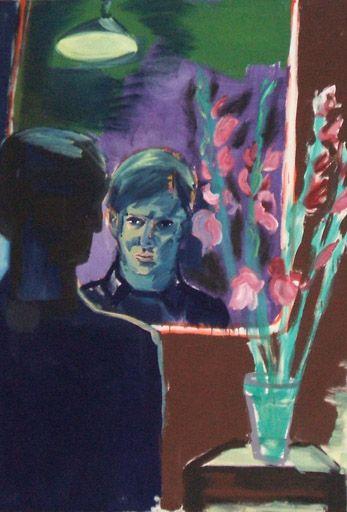 Rainer Fetting, Selbstportrait mit Blumen I, 1981, Deutsche Bank Collection © VG-Bildkunst, Bonn 2009