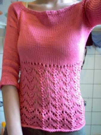 Lace Sweater Knitting Pattern : 17 Best images about summer knitting on Pinterest Sweater patterns, Drops d...