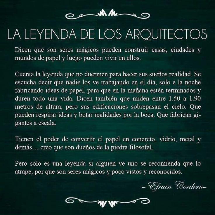 Leyenda de los Arquitectos