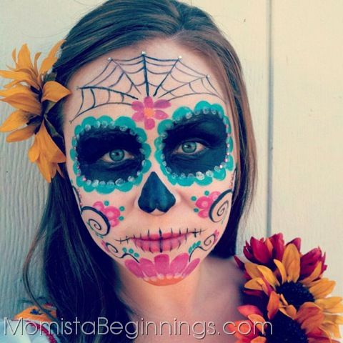 day of the dead womans face paint - Halloween Day Of The Dead Face Paint