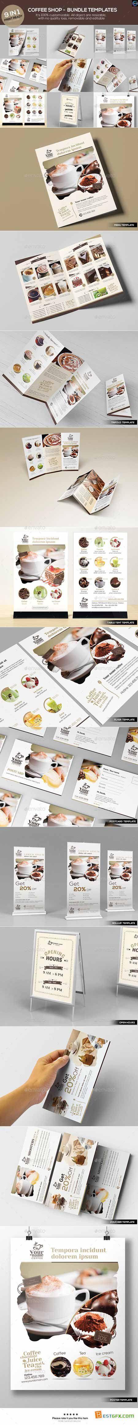 Graphicriver Coffee Shop - Bundle Templates 12527338
