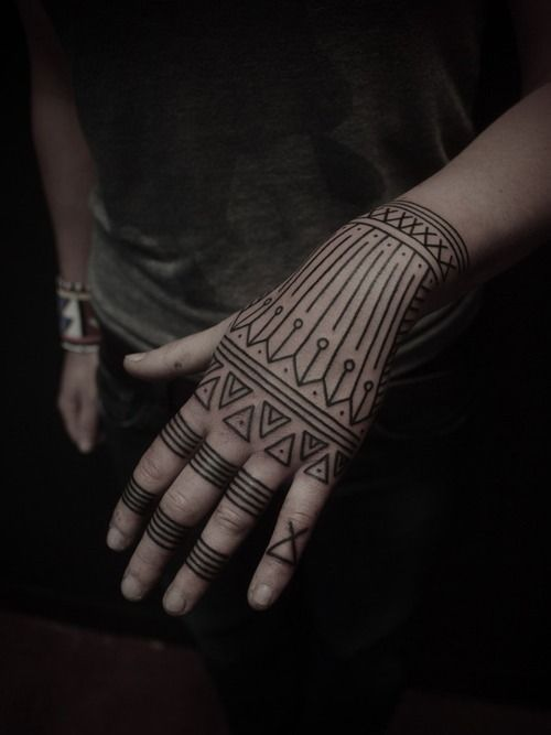 Tradition Tribal Tattoo on Hand