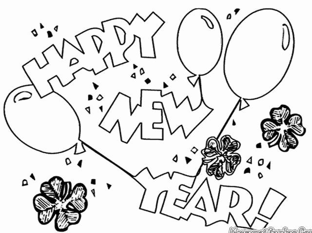 Happy New Year 2019 Coloring Page Elegant Free Printable Happy New