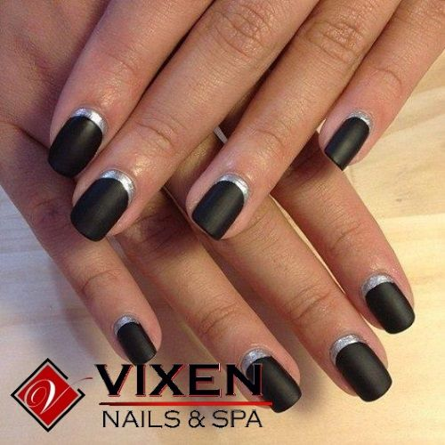 Reverse French Manicure, Ready for Fall www.vixenspa.com