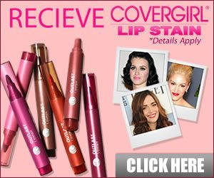 Covergirl LipStain giveaway. get a chance to win Covergirl LipStain without having to buy. Click the link below and enter your email.
