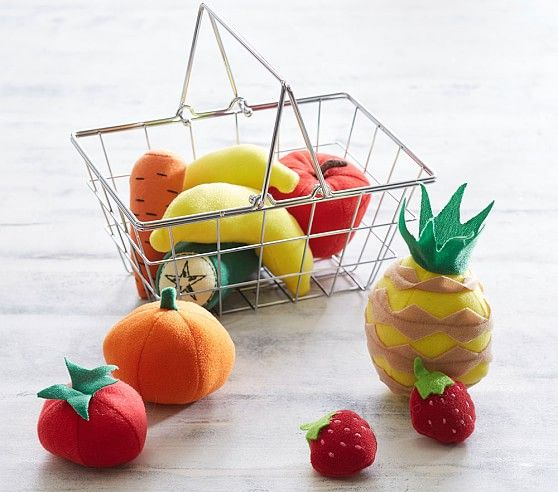 Mini Grocery Basket- Fruit   Pottery Barn Kids