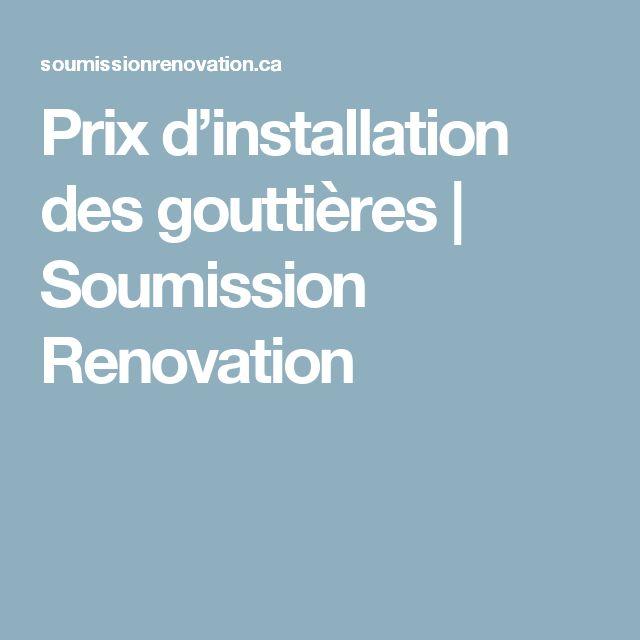 Prix d'installation des gouttières | Soumission Renovation
