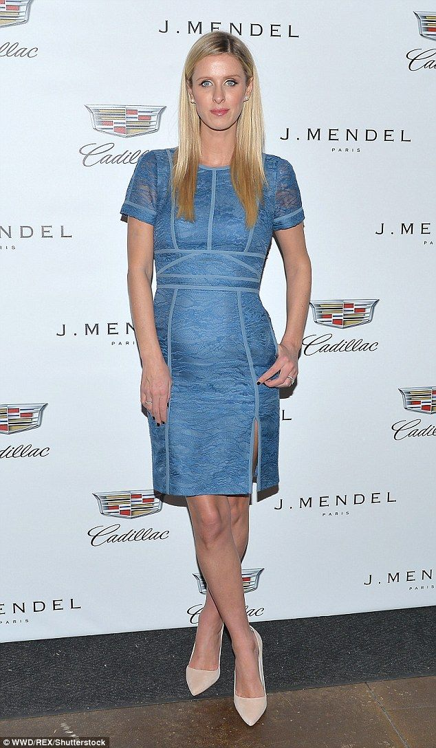 There it is! Nicky Hilton's pregnancy bump made a surprise appearance at J. Mendel's NYFW closing show on Thursday