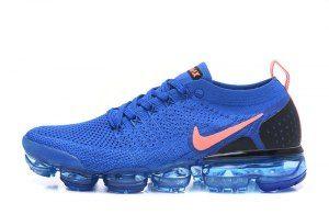 the latest 3ec23 09aee Nike Air VaporMax Flyknit 2. 0 Men s Running Shoes Royal Blue Orange