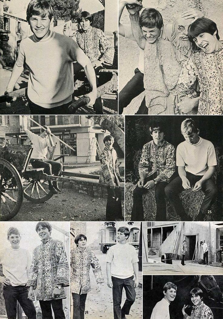 Kurt Russel and Davy Jones of The Monkees on the backlot of Walt Disney Studios.   Kurt Russel and Davy Jones Kurt Russel and Davy Jones of The Monkees on the backlot of Walt Disney Studios.
