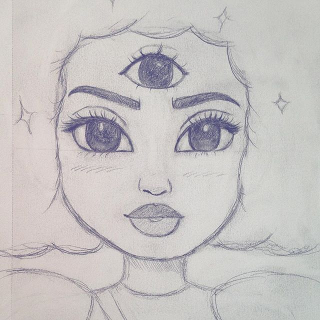 Easy Visual Arts: Did A Quick Sketch Of Garnet From Steven Universe. I Also