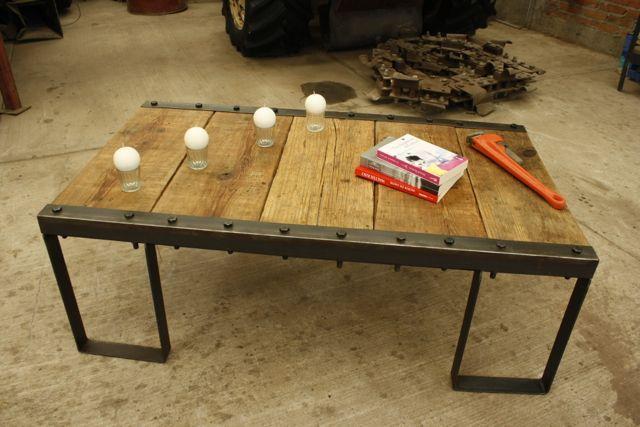 Mesa central, crea tu propio estilo con un mueble único. De madera-hierro@hotmail.com