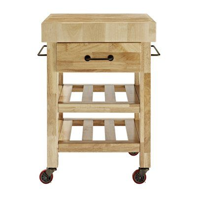 Crosley CF3007-NA Marston Butcher Block Kitchen Cart