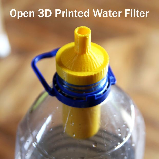 Open Source 3D Printed Water Filter | http://www.instructables.com/id/Open-Source-3D-Printed-Water-Filter/