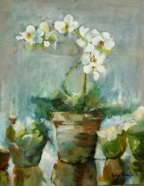 Orchids - Oil on Stretched Canvas