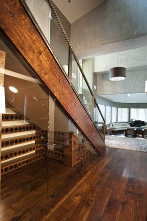 mini wine cellar under the stairs