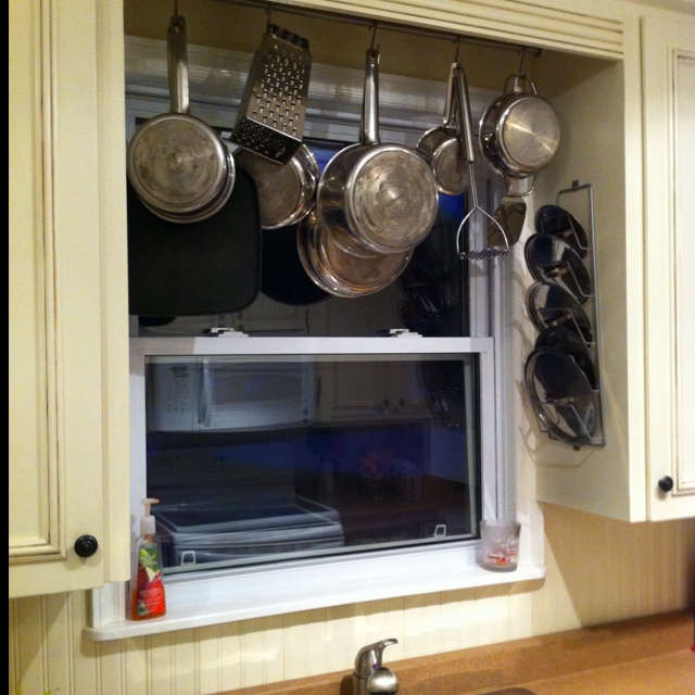 Pot Rack Above Kitchen Sink Bar Hooks And Pot Lid Holder