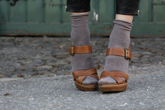 socks-sandals-color combo. #shoes