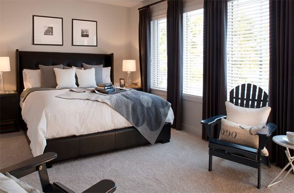 20 Bedroom Spaces with Black Leather Beds