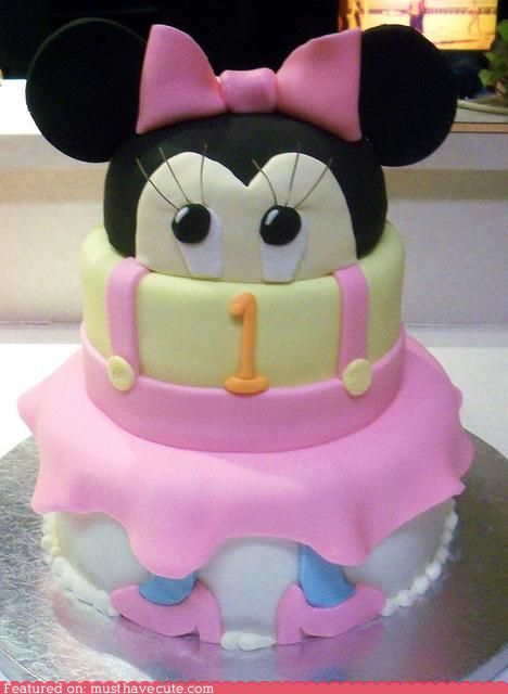 Minnie Mouse: Cakes Ideas, First Birthday Parties, Baby Minnie, World Maps, Parties Ideas, Baby Shower Ideas Mickey, Minnie Mouse Cakes, Baby Cakes, Baby Shower