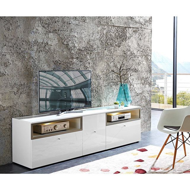 banc tv design avec clairage led lumia atylia prix promo meuble tv atylia ttc ce banc tv ninon led lumia un banc tv design trs agrable avec ses deux - Meuble Tv Design Ibiza A Led