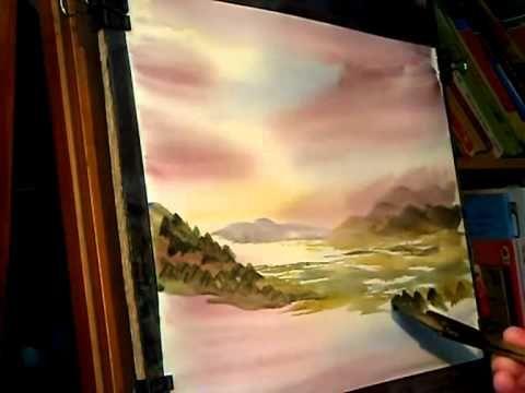 Watercolour Painting Tutorial featuring Bassenthwaite Lake from Whinlatter Pass - YouTube