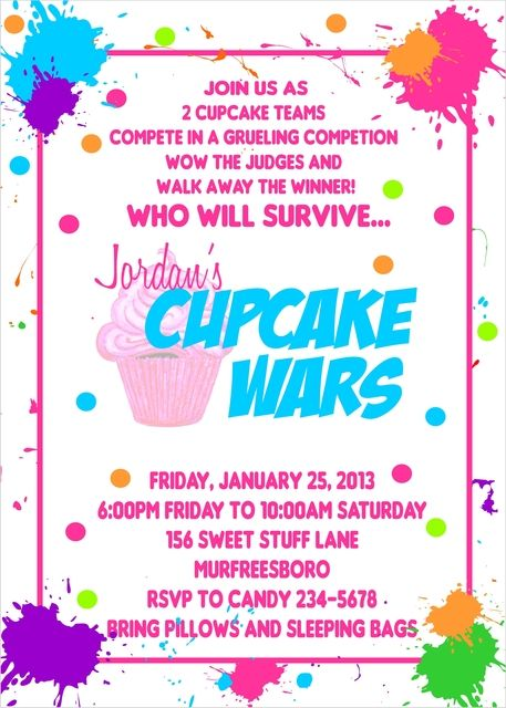 Jordan's Cupcake Wars Party-what a great idea for when B gets older!!