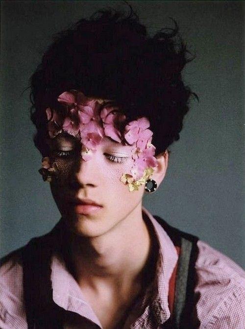 Ash Stymest. Flower make-up mask.