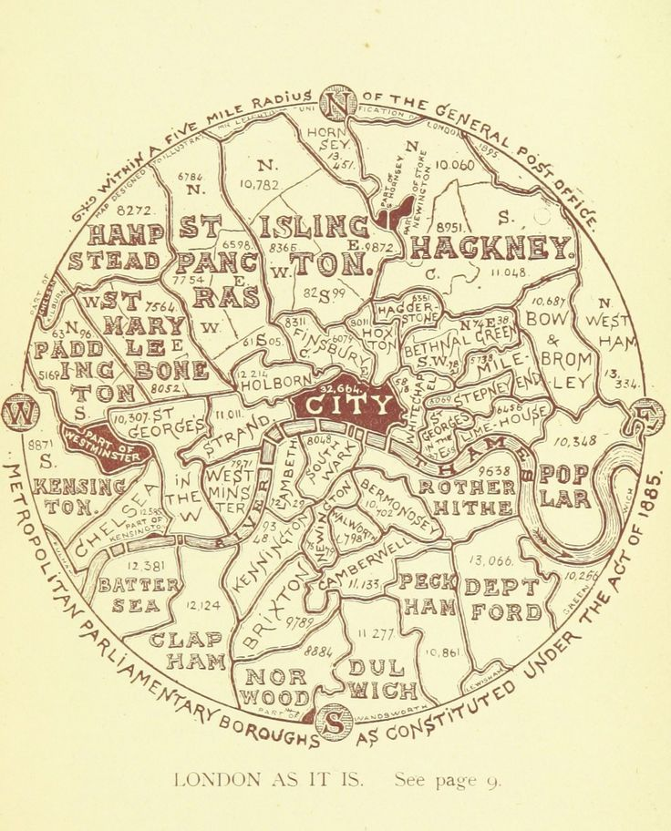 This map showing the boroughs of London, as they were in 1895.   18 Beautiful And Weird Maps That Will Change How You Think About London