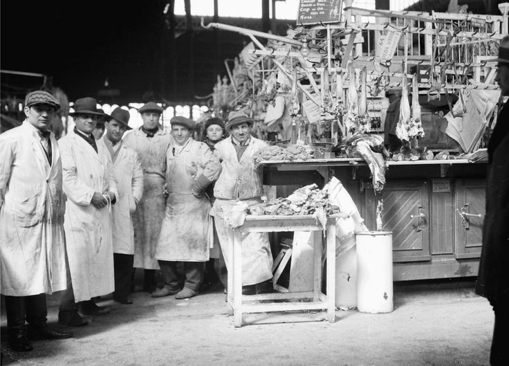 In the meat market, April 1932