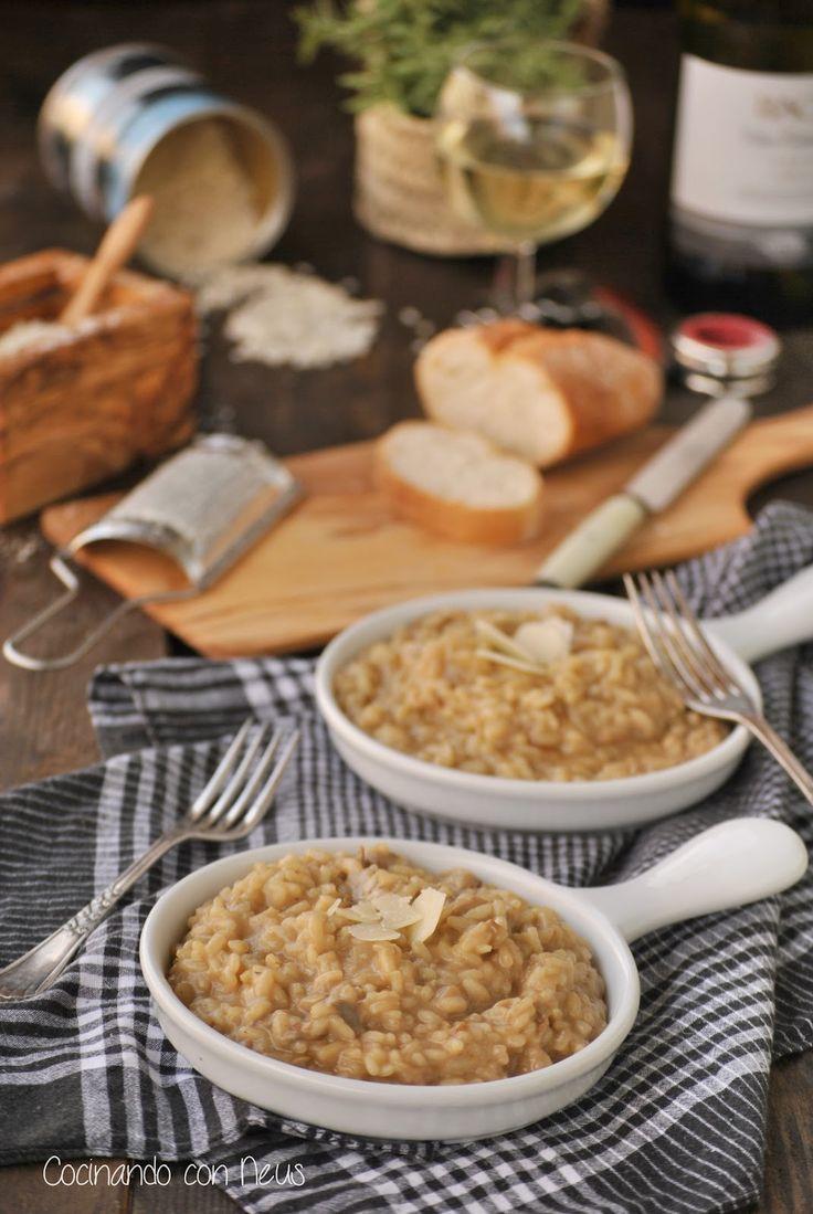 Cocinando con Neus: Risotto con funghi porcini con sabor italiano