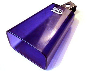 """6"""" Cowbell (Plastic, Mountable) by Tone Deaf Music. $17.58. Plastic cowbells make an interesting addition or alternative to more common metal cowbells. They don't ring out for as long as metal ones and sound somewhere between a block and a metal cowbell. Very cool sounding and looking piece of kit."""