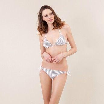 Brasiliana bikini donna con fantasia a righe oblique Club 55