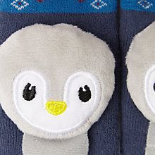 Buy John Lewis Baby Penguin Rattle Socks, Pack of 2, Multi Online at johnlewis.com