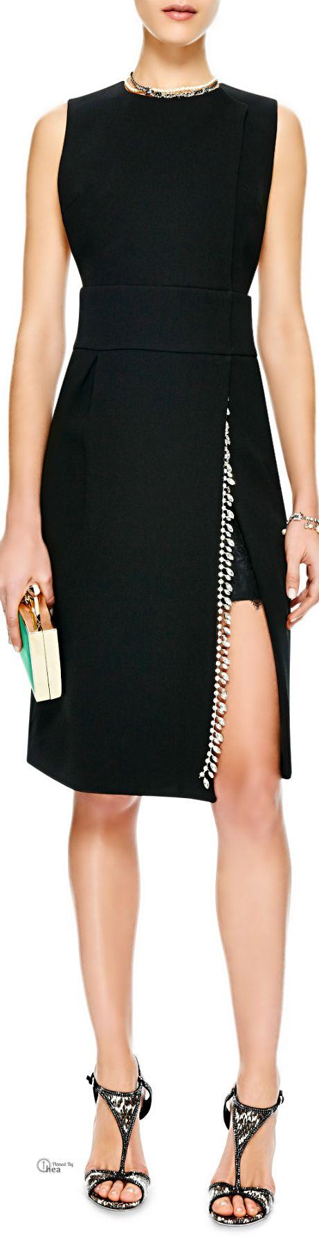 Thakoon 2014 ● Crystal-Embellished Crepe Wrap Dress