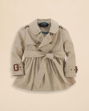 Ralph Lauren Childrenswear Infant Girls' Classic Trench Coat - Sizes 9-24 Months