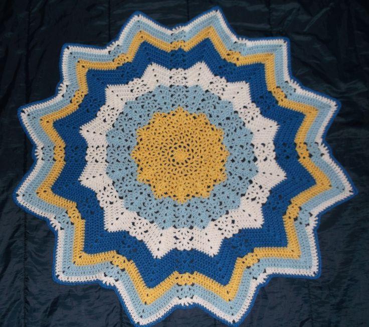 Mejores 860 imágenes de round ripple Afghan en Pinterest | Afganos ...